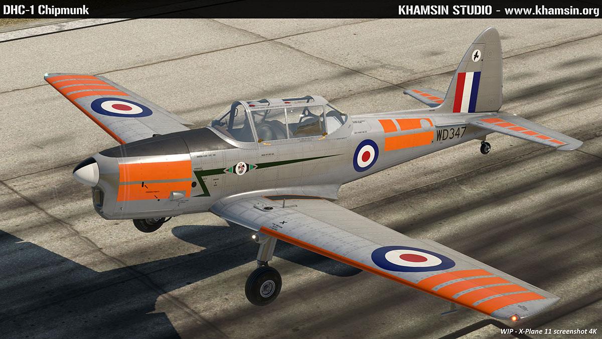 DHC-1 Chipmunk - X-Plane 11.50 - khamsin.org